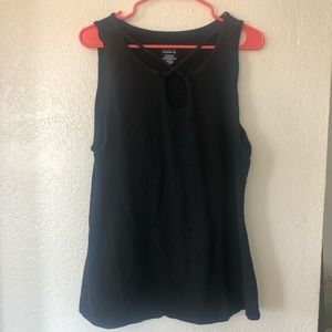 Torrid Black Tank Halter Short Sleeve Shirt